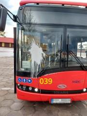 Policjanci dokonali oględzin na zajezdni autobusowej po zakończeniu kursu. Zabezpieczony został monitoring, na którym wyraźnie widać zdarzenie.
