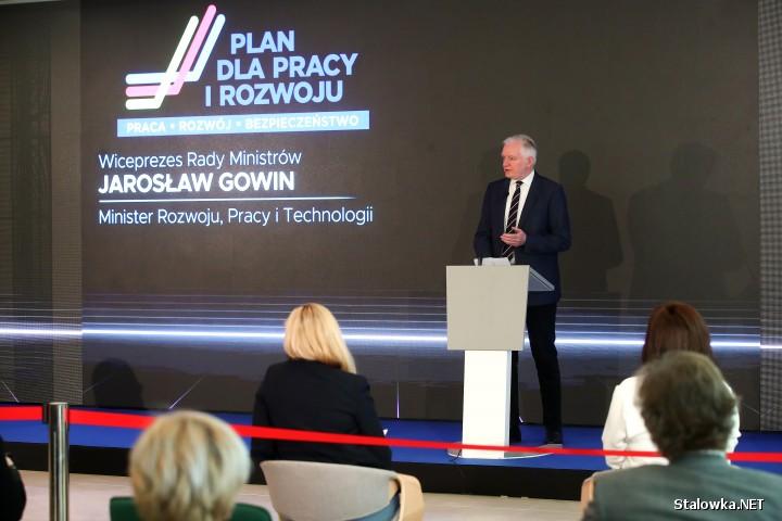 Stalowa Wola: konferencja z udziałem wicepremiera Jarosława Gowina.