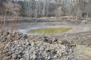 Trwają intensywne prace przy budowie Parku Zimnej Wody. Już widać zarys stawów, zakończył się pierwszy etap wycinki drzew.