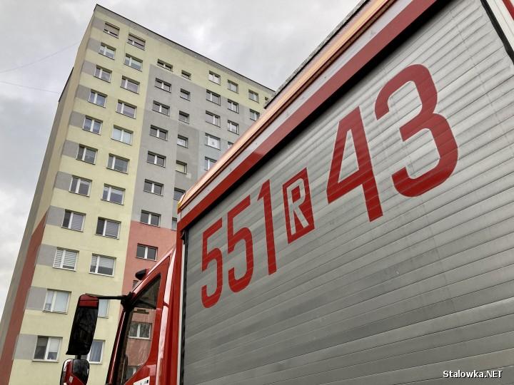 Z wieżowca na Alejach Jana Pawła II 12 w Stalowej Woli silny wiatr zerwał kawałek blachy dachowej. Na szczęście nikt nie został ranny.