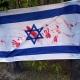 Stalowa Wola: Krwawe ślady dłoni na fladze Izraela w Stalowej Woli!