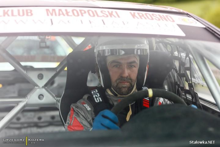 Krzysztof Faraś na wyścigu w Załużu.