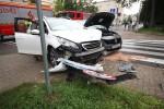 W zdarzeniu drogowym na ulicy Skoczyńskiego jedna została poszkodowana.
