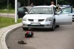 W trakcie obfitych opadów deszczu z gradem na ulicy Energetyków w Stalowej Woli doszło do wypadku drogowego z udziałem motocyklisty.
