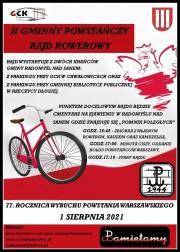 W gminie Radomyśl II Powstańczy Rajd Rowerowy.