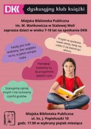 MBP zaprasza dzieci i młodzież do Dyskusyjnego Klubu Książki.