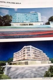 Wizualizacja obiektu hotelowego z 2014 roku.
