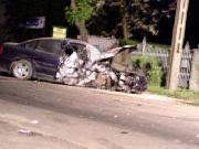 Zdjęcie rozbitego VW Passata