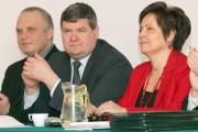 W Stalowej Woli odbyło się spotkanie z Kazimierzem Plocke, Sekretarzem Stanu w Ministerstwie Rolnictwa i Rozwoju Wsi (drugi z lewej).