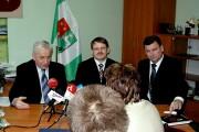 Konferencja z udziałem przedstawicieli Podkarpackiego NFZ.