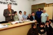 Rozmowy Starosty oraz dyrektora szpitala z pielęgniarkami.