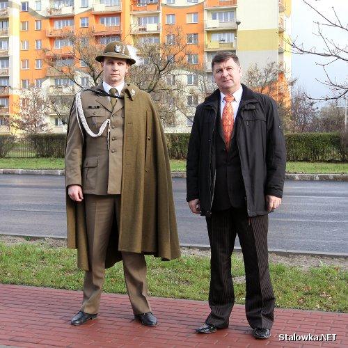 Podhalańczyk Konrad Radzik i Starosta Stalowowolski, Wiesław Siembida.
