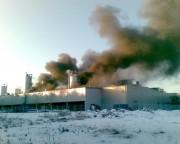 Pożar w jednej z hal Alutecu przy ulicy Przyszowskiej 1.