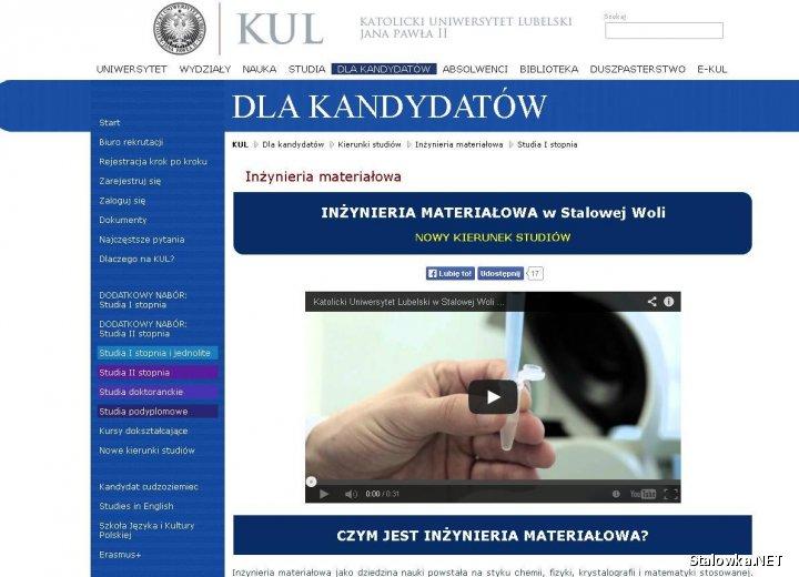Zrekrutować można się w kilka minut, dzięki specjalnemu serwisowi: www.kul.pl