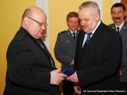 Prezydent w towarzystwie Wojewody Mirosława Karapyty.