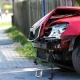 Stalowa Wola: Zderzenie dwóch aut w centum Jastkowic. 1 osoba ranna