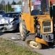 Stalowa Wola: Wypadek z udziałem traktora na drodze powiatowej
