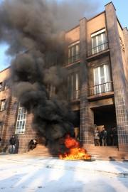 Luty 2009: pracownicy gdy dowiedzieli się o upadłości spółki rozpoczęli protesty. Domagano się terminowych wypłat i kontynuowania działalności.