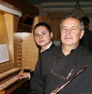 Artyści wieczoru: od lewej: Maciej Banek i Leszek Szarzyński