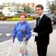 Stalowa Wola: Kandydat do europarlamentu Tomasz Poręba promował się w Stalowej Woli