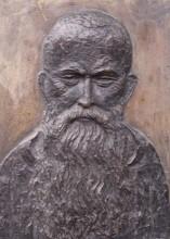 o. Ryba Hieronim - płaskorzeźb portretu na pomniku