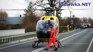 TV Stalowa Wola: Śmigłowiec LPR zabrał z wypadku rannego motocyklistę